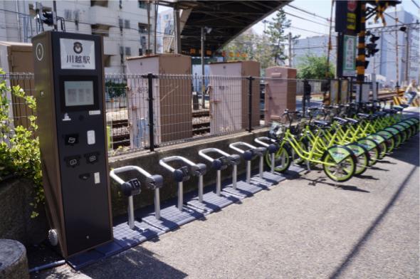 自転車シェアリングのポート