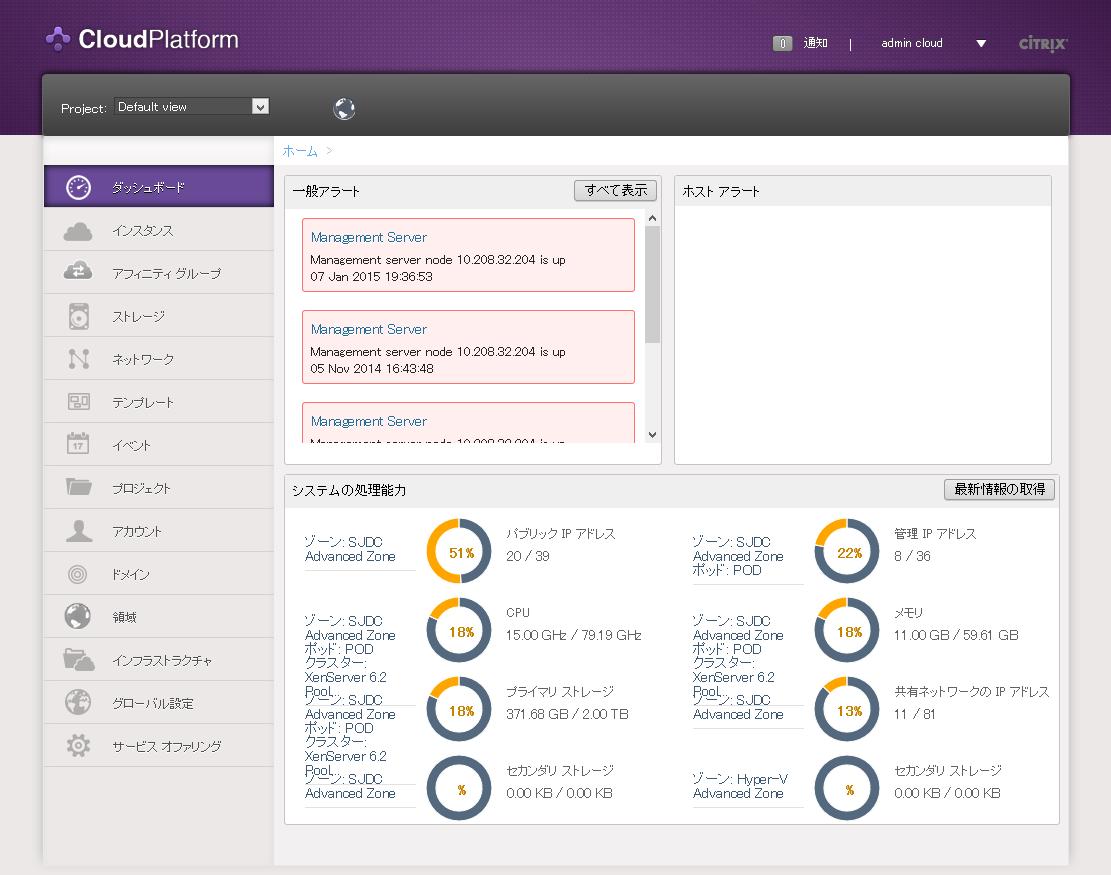 CitrixCloudPlatform-Dashboard
