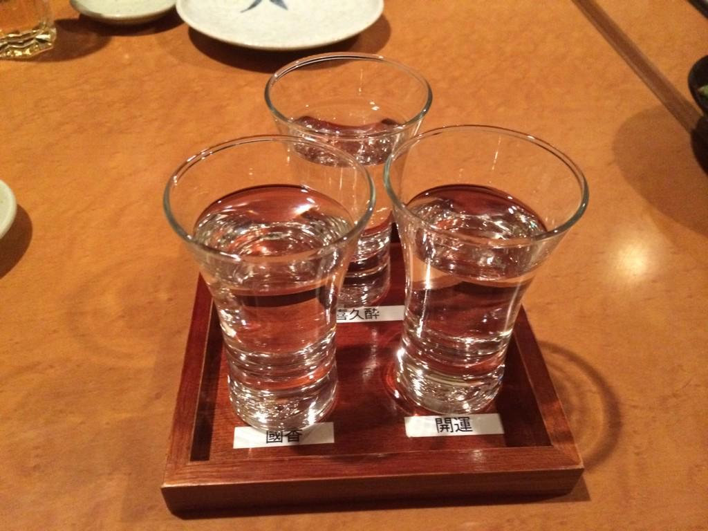 静岡の地酒を飲み比べ!