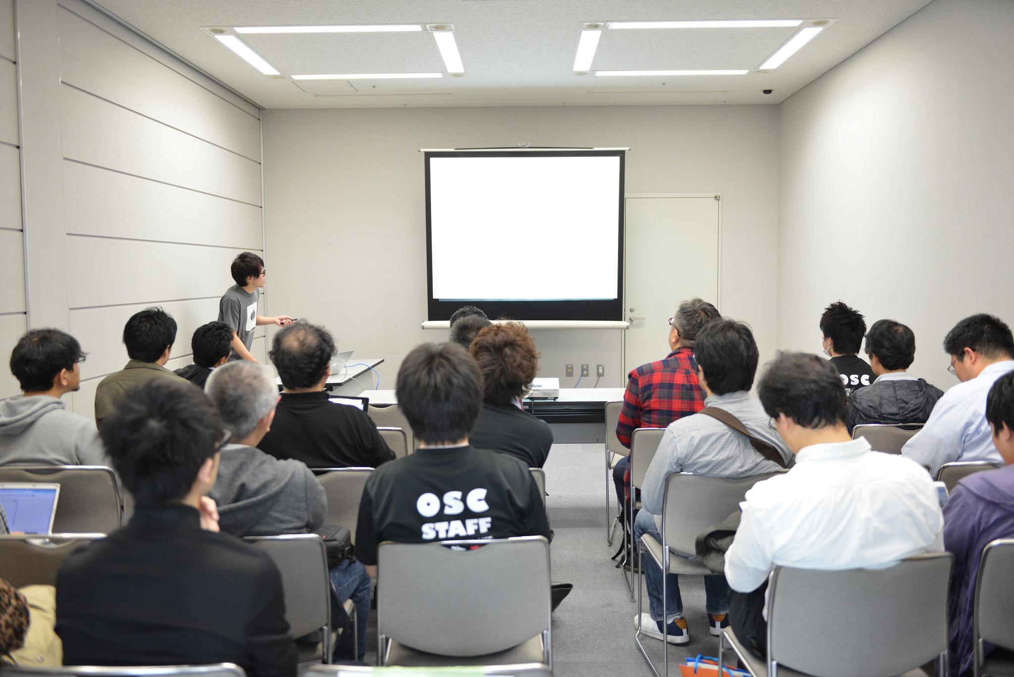 OSGeo財団日本支部のセミナーの様子