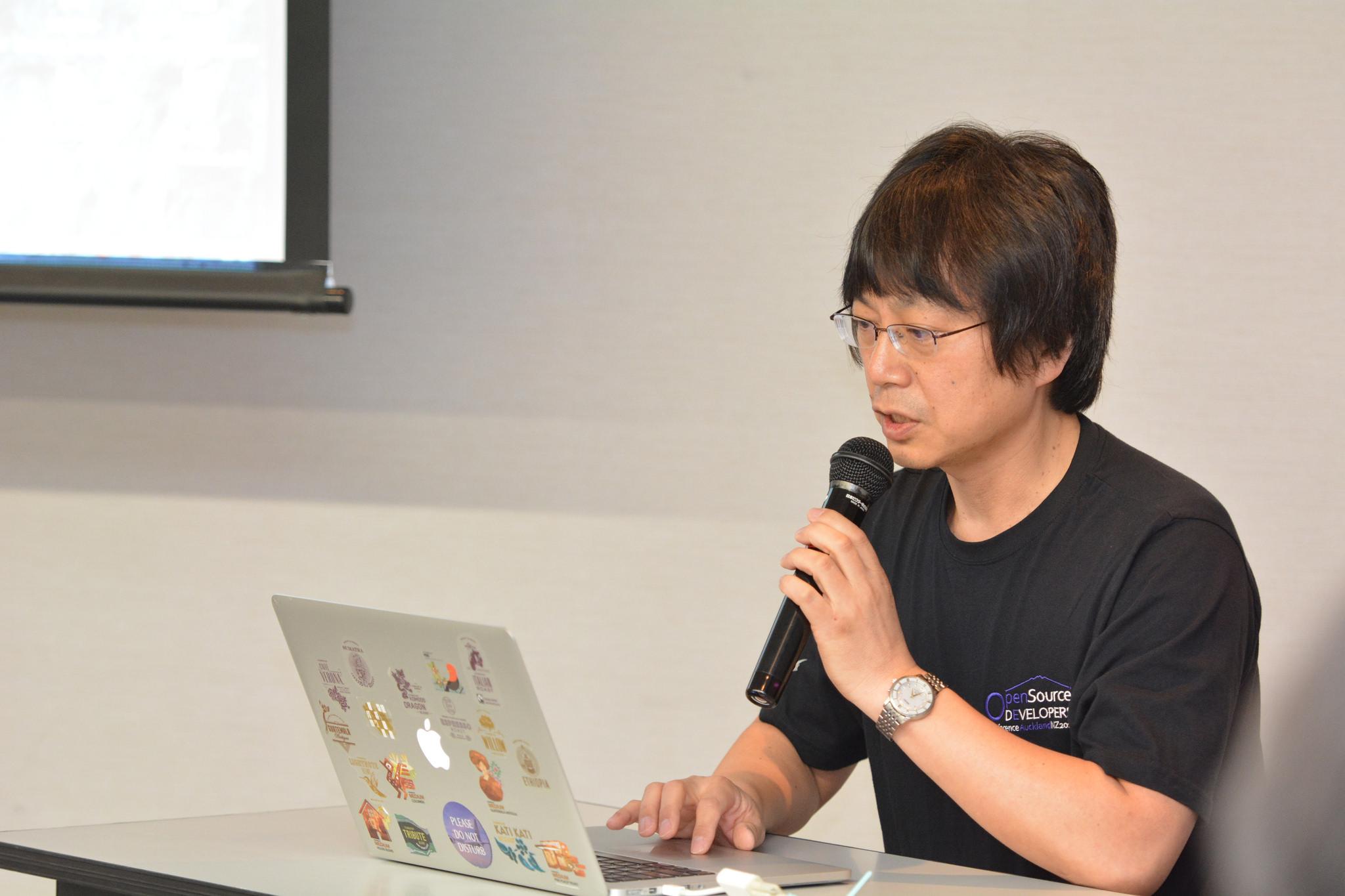 中部大学オープンソース研究会のセミナーの様子