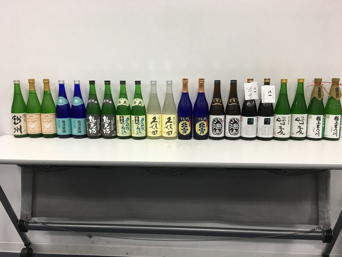 ずらりと並んだ日本酒!